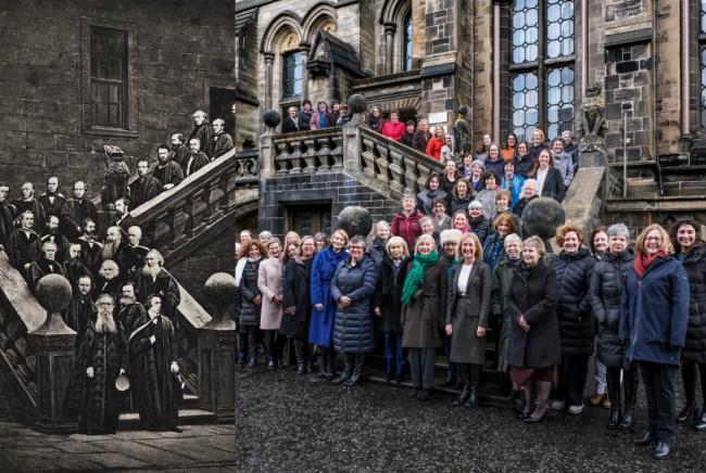 The photograph has been recreated in honour of the move 150 years ago
