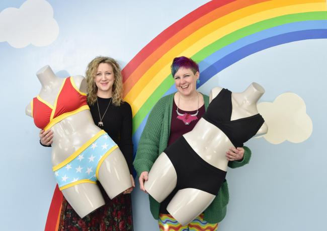 Ros Marshall and Kirsty Lunn of underwear maker Molke