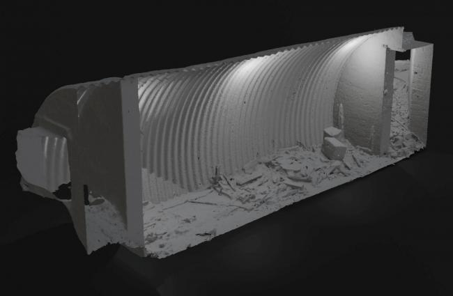 A 3D graphic of the secret underground bunker used by an elite military unit often known as 'Churchill's secret army'.