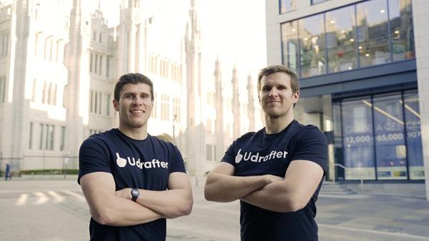 Daryll and Luke Morrow of Udrafter won backing for their internship platform from a range of investors