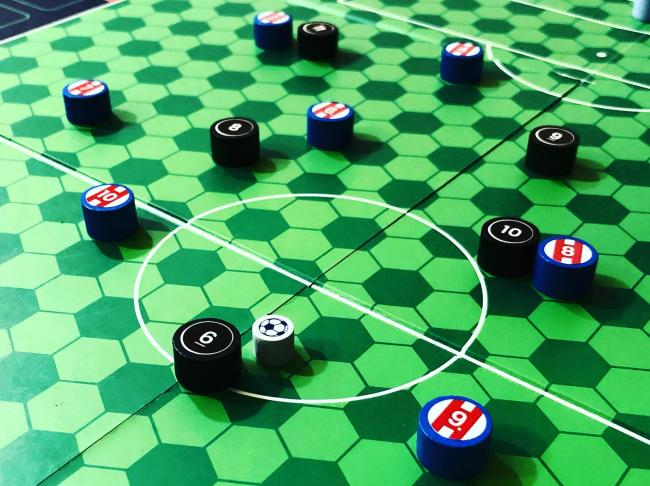 Football board game Counter Attack was developed by Colin Webster