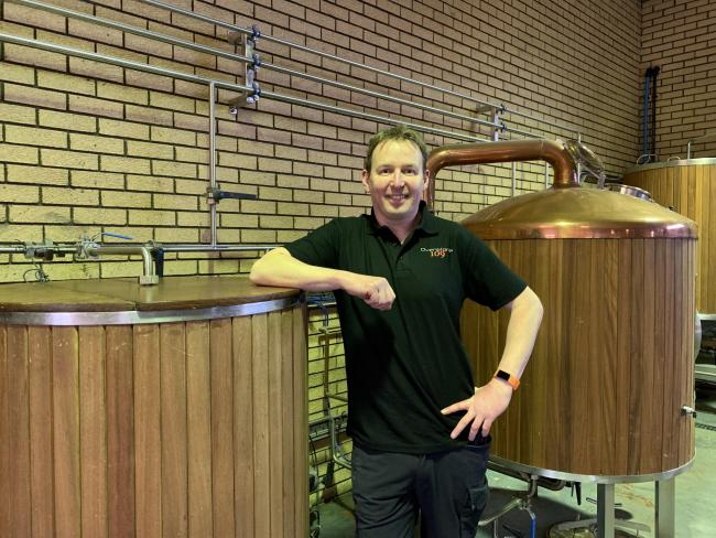 Nick Fleming opened craft brewery Ovenstone 109 in a former tractor showroom