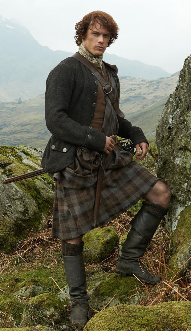 HeraldScotland: Sam Heughan as Outlander character Jamie Fraser