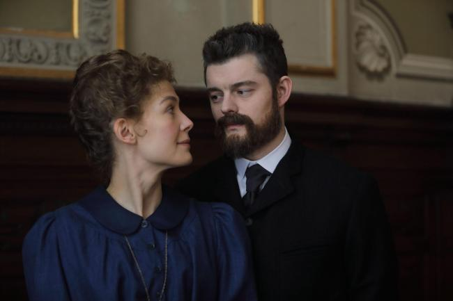 Radioactive with Rosamund Pike as Marie Curie and Sam Riley as Pierre Curie