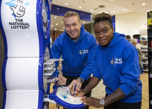 Olympic medallists Chris Hoy and Nicola Adams helped to mark the Lottery's 25th year. It could now help stricken clubs and athletes