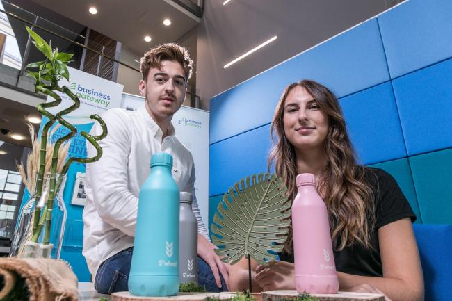 Jake Elliott-Hook and Amee Ritchie started their bottle business while they were students. Picture: Mark Jackson