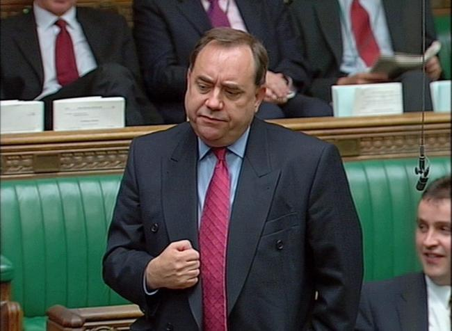 SNP Party leader Alex Salmond....
