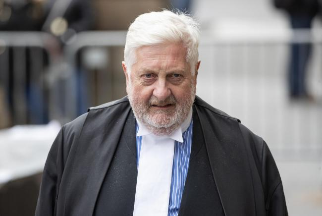 Gordon Jackson QC leaves the High Court in Edinburgh after the fifth day of former Scottish first minister Alex Salmond's trial over accusations of sexual assault, including one of attempted rape. PA Photo. Picture date: Friday March 13, 2020. See PA