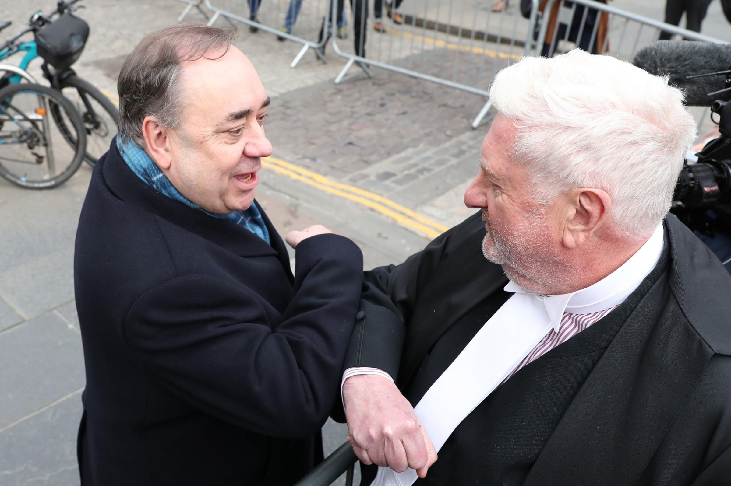 Alex Salmond's QC under fire over video footage showing him naming sexual assault complainers