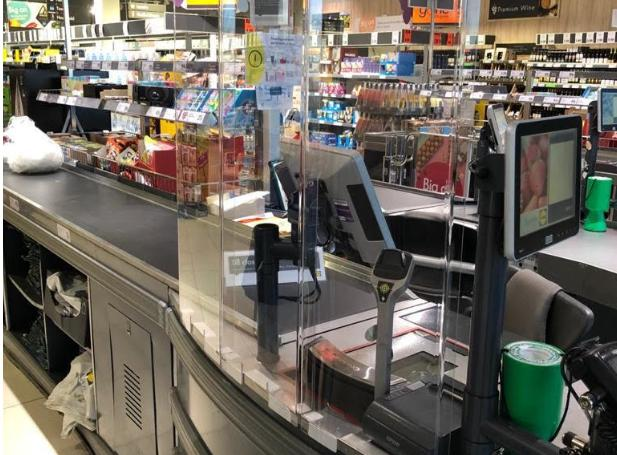 HeraldScotland: A view of one of the new Lidl coronavirus screens (Image: Lidl)