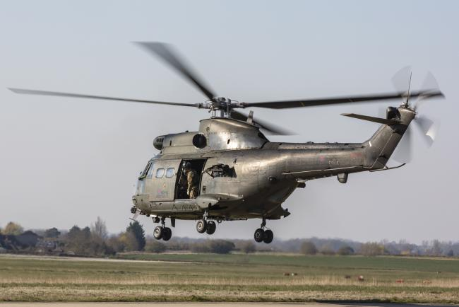 The RAF Puma helicopters are stationed at Kinloss Barracks in Moray