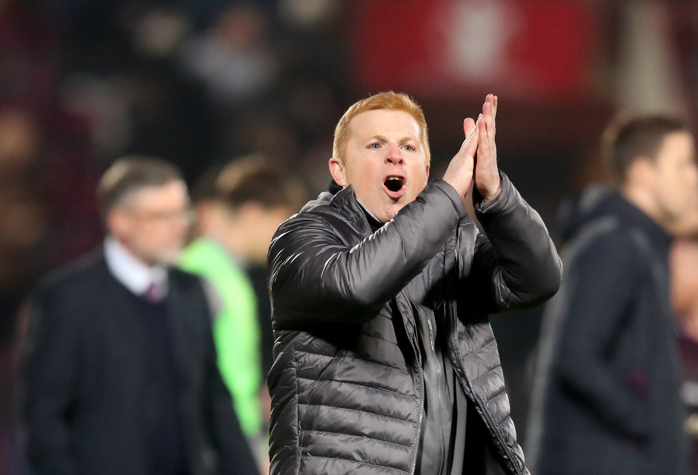 Football secondary for Celtic manager Neil Lennon as he applauds real heroes