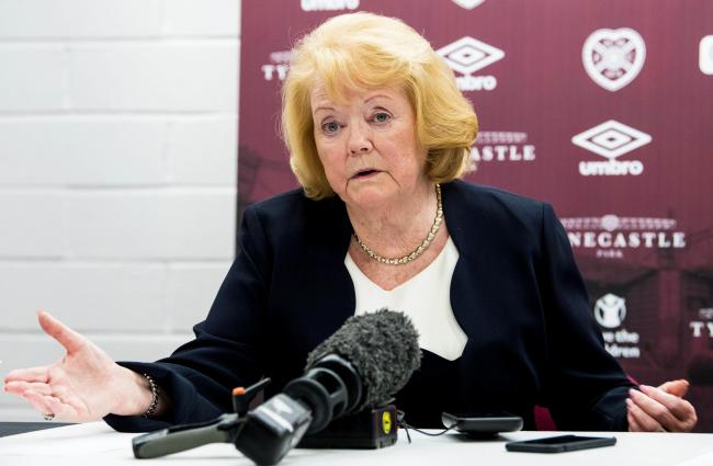 Hearts owner Ann Budge at Tynecastle in December.