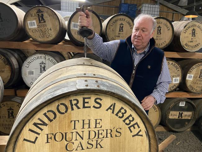 Lindores Abbey distillery co-founder Drew McKenzie-Smith