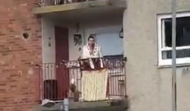 Elvis impersonator became a viral star this week after an impromptu performance attracted the attention of the police