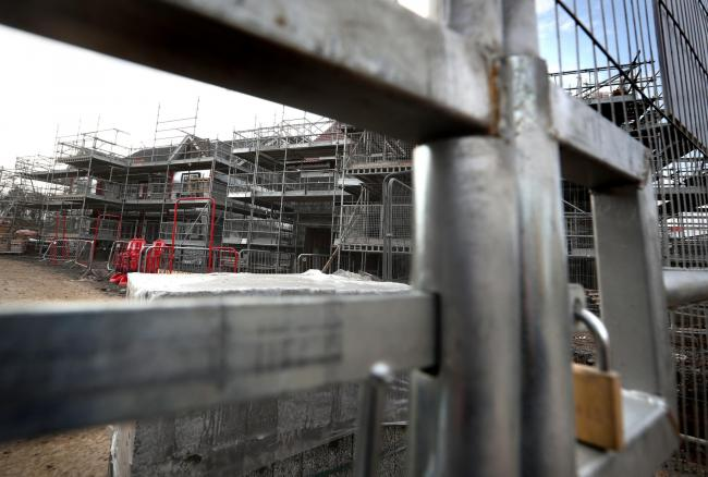 Construction actifvity dropped in March at the fastest pace for nearly 11 years. Picture: Andrew Milligan/ PA Wire.