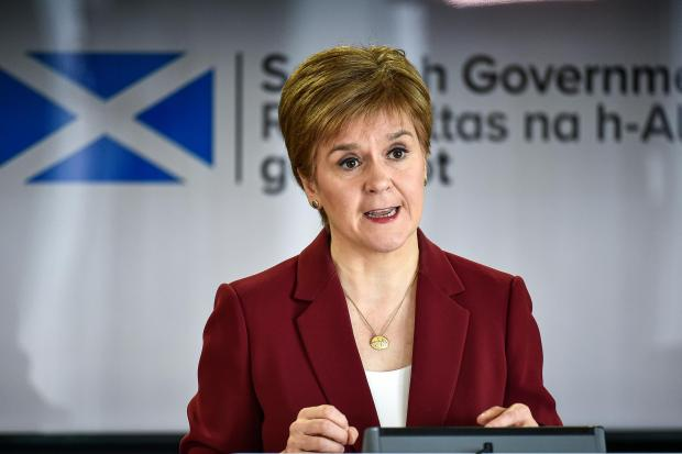 First Minister Nicola Sturgeon speaking at a coronavirus briefing at St Andrews House in Edinburgh. PA Photo. Picture date: Sunday March 29, 2020. See PA story HEALTH Coronavirus Scotland. Photo credit should read: Jeff J Mitchell/PA Wire.