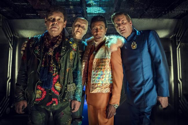 Red Dwarf,  Craig Charles as Dave Lister, Robert Llewellyn as Kryten, Danny John-Jules as The Cat and Chris Barrie as Arnold Rimmer