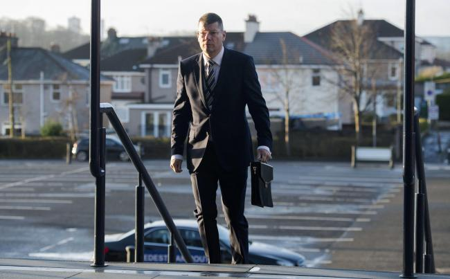 SPFL chief executive Neil Doncaster arrives at Hampden ast month. Photo by Craig Foy/SNS Group.