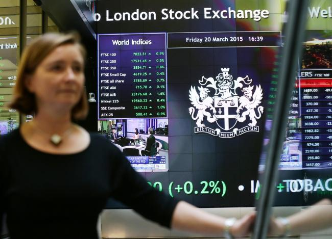 An information screen displaying the FTSE 100