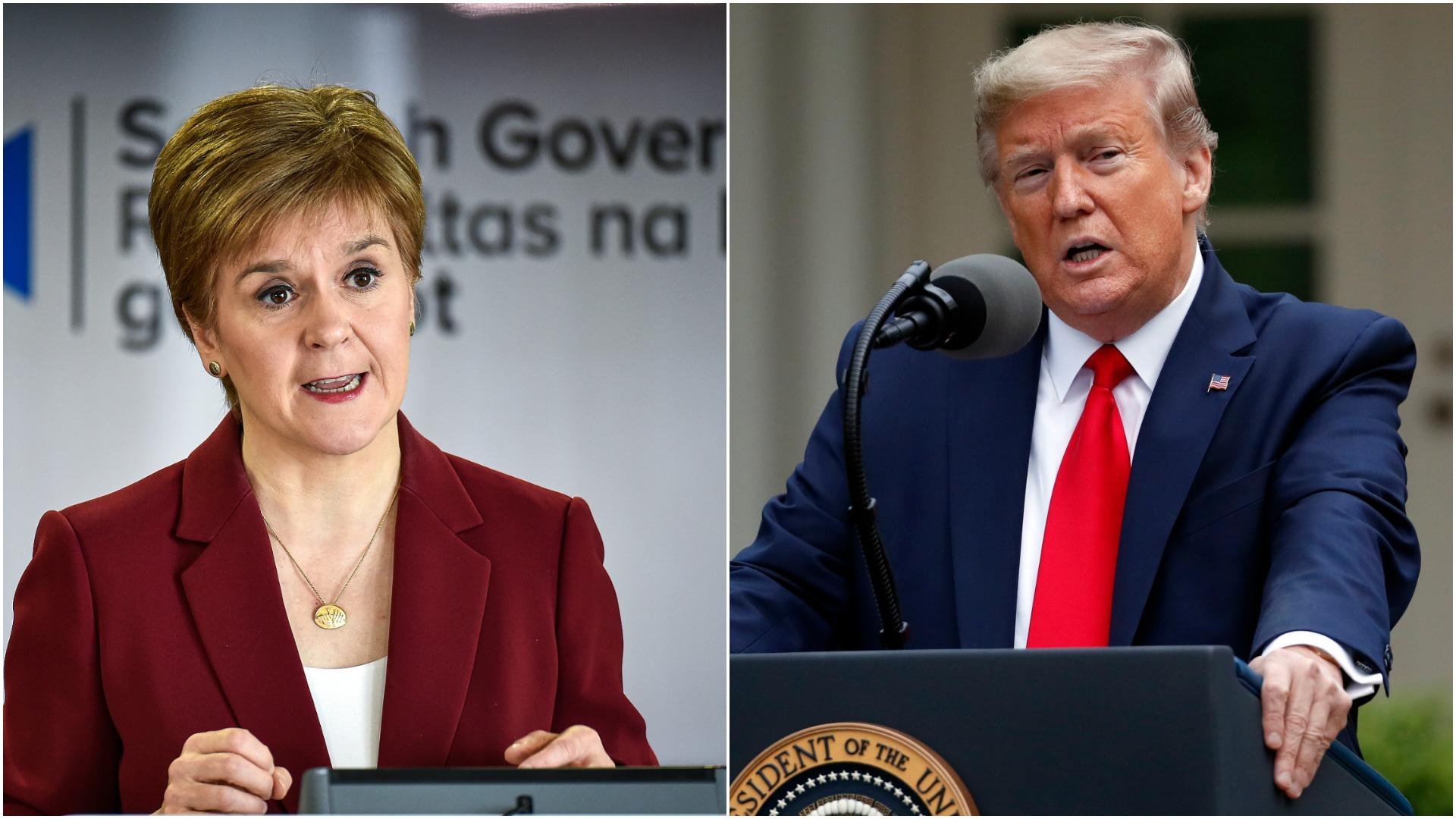 Menteri Skotlandia dituduh bertindak melanggar hukum dengan gagal menyelidiki keuangan Donald Trump