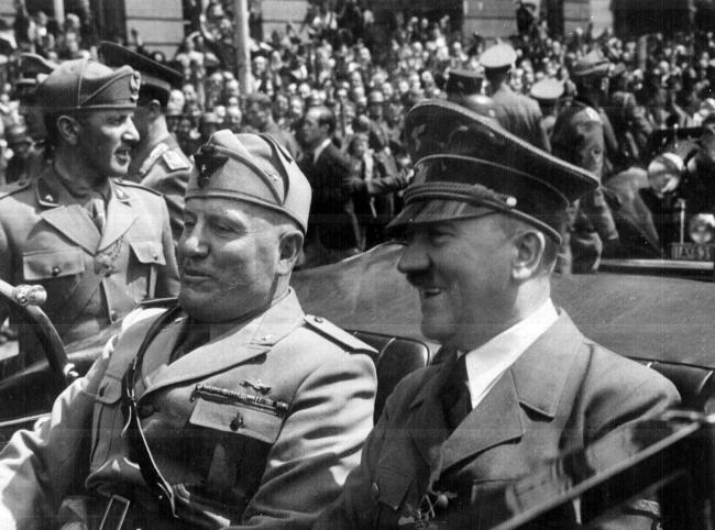 Benito Mussolini and Adolf HitlerPicture: Getty Images