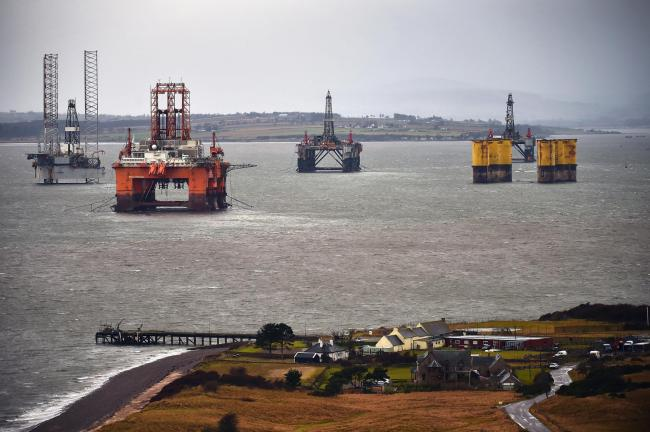 Demand for rigs has come under pressure in the North Sea following the fall in the oil price. Picture: Jeff Mitchell/Getty Images
