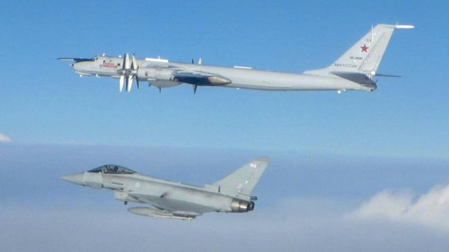 RAF chief scorns Russia after two planes intercepted near Scotland