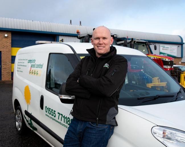 Keith Gallacher of South Lanarkshire-based Complete Weed Control went into business as a teenager.