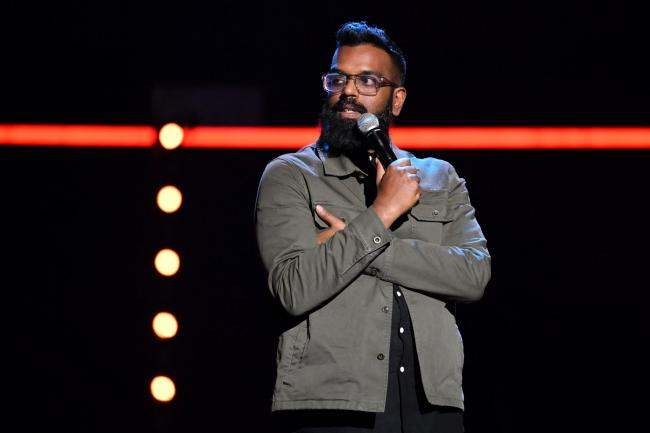 Romesh Ranganathan performs during the Teenage Cancer Trust comedy night, at the Royal Albert Hall, LondonPicture: Matt Crossick/PA