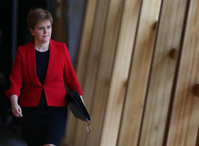 First Minister Nicola Sturgeon announced the reward for NHS and care workers Picture: Gordon Terris