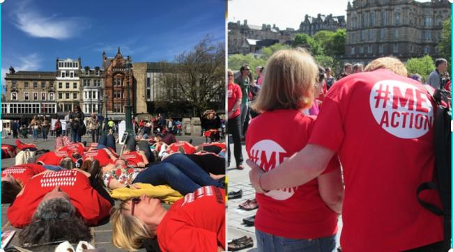 A mass lie down at a recent Millions Missing in Edinburgh to show solidarity with the 21,000 people in Scotland who have ME