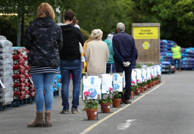 A queue at a garden centre in Hampshire last week; should Scotland be catching up?