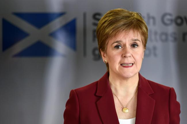 Nicola Sturgeon blasts 'shameful' clashes in Glasgow as police swarm statue protests