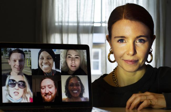 Safe at home in her flat, Stacey Dooley interviewed volunteers across the UK