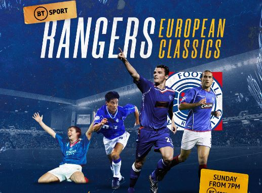 BT Sport to show classic Rangers European matches in 2 hour special programme