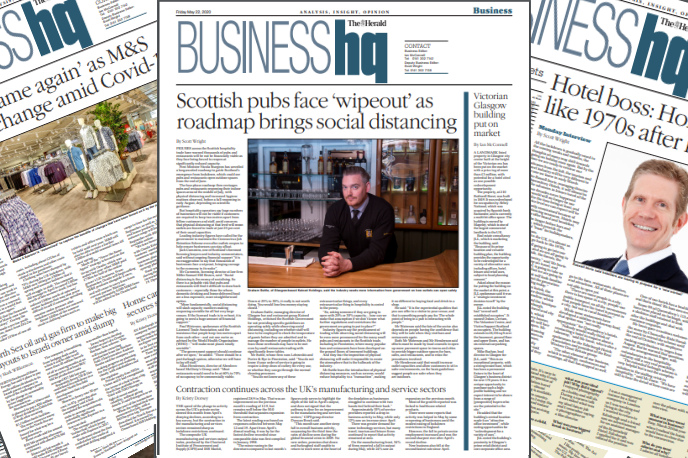 Scottish tourism industry 'at risk of total collapse' | £1m glass house plan to save Glasgow pubs and restaurants | Edinburgh brewery proposal unveiled