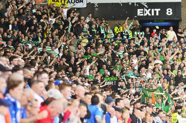 Celtic and Rangers fans during the Old Firm clash at Ibrox on September 01, 2019 in Glasgow, Scotland. (Photo by Jamie Simpson/Herald & Times)