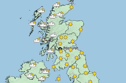 This is the Met Office's prediction of the weather on Saturday afternoon (Image: Met Office)