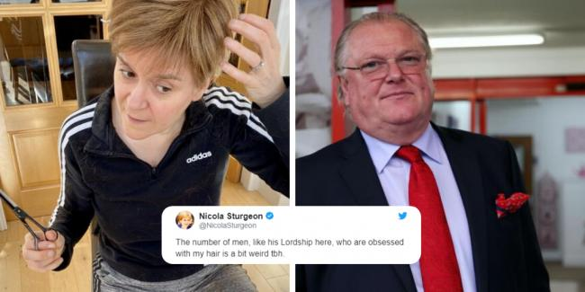 Nicola Sturgeon responds to theory over 'immaculate' hair as English lord hints at lockdown breach