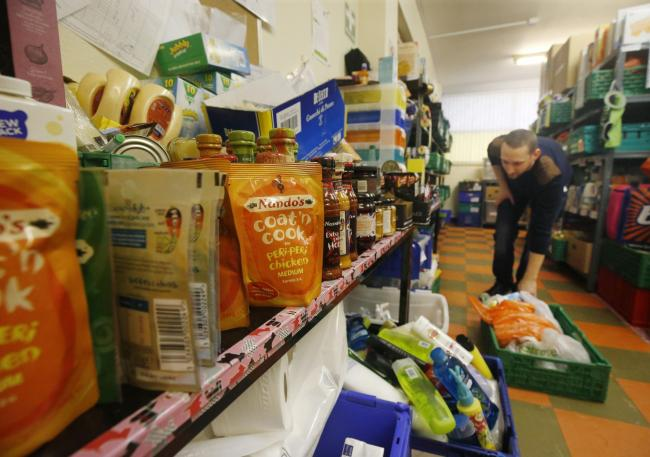 File photo of a Trussell Trust food bank.