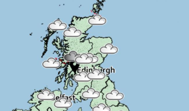 Grey skies and scattered rain are on the way (Image: Met Office)