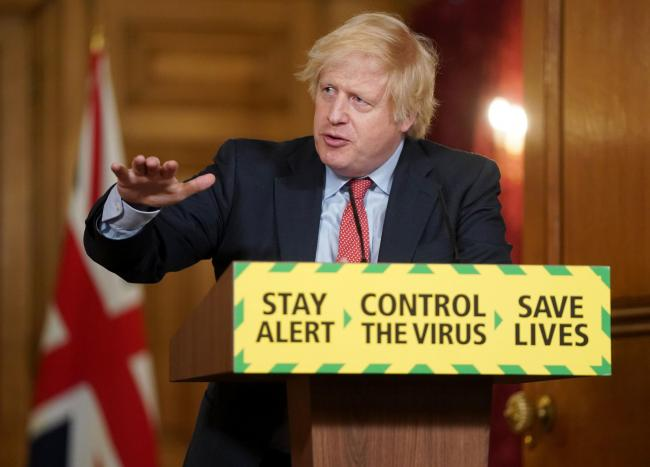 Prime Minister Boris Johnson, during a media briefing in Downing Street, London, on coronavirus (COVID-19).