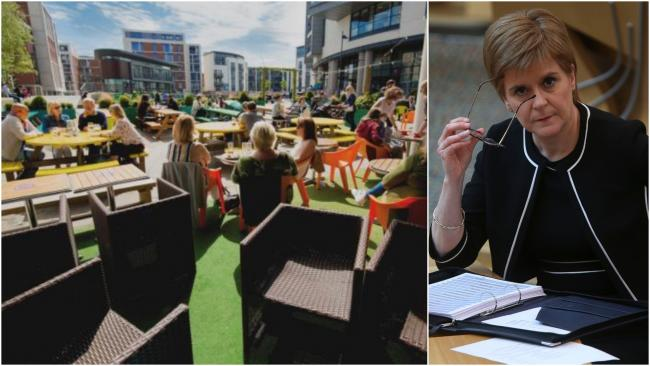 Nicola Sturgeon asks people to wait 'a couple more weeks' for beer gardens to re-open