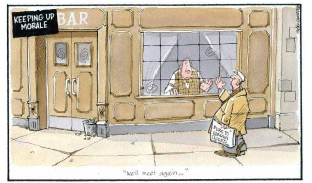 HeraldScotland: Camley's Cartoon: Pubs to remain closed.