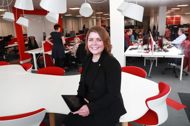 POSITIVE VISION: CGI appointed Lindsay McGranaghan as new head of its Scottish operation last year – one of the youngest people to hold such a senior position in the global technology company's history