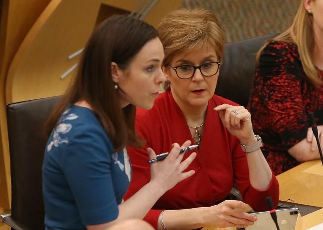 Finance Secretary Kate Forbes at Holyrood. Picture: Gordon Terris