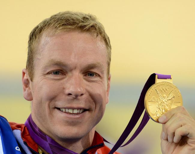 Sir Chris Hoy wins gold in the keirin at London 2012. Picture: John Giles/PA Wire