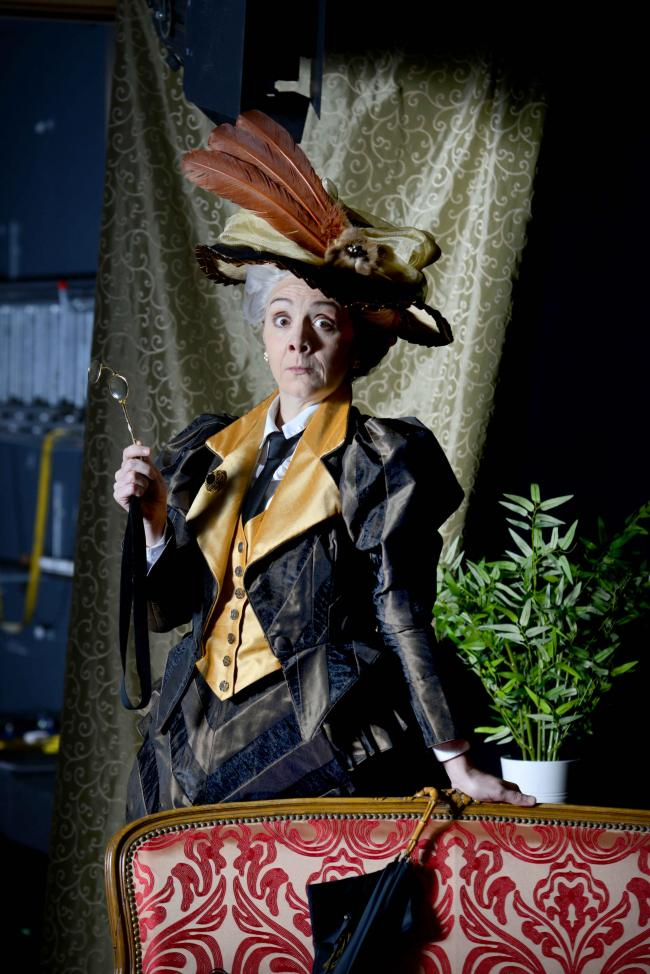 Karen Dunbar as Lady Bracknell in Oscar Wilde's play The Importance of Being Earnest which was performed at Perth Theatre in March