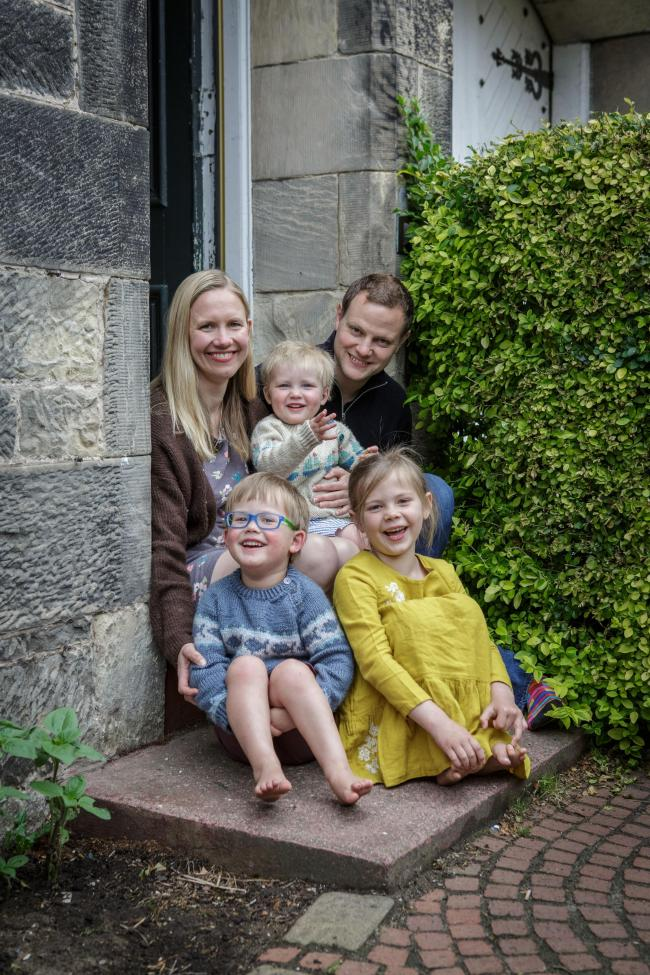 Yummikeys founder Elspeth Fawcett and family
